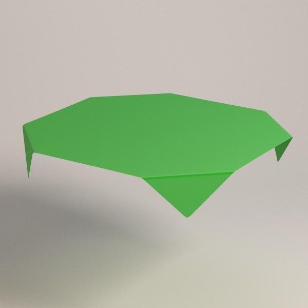 square tablecloth 3d model