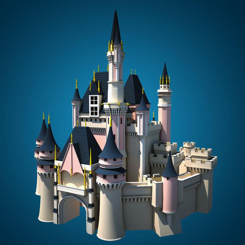 fantasy castle 3d max