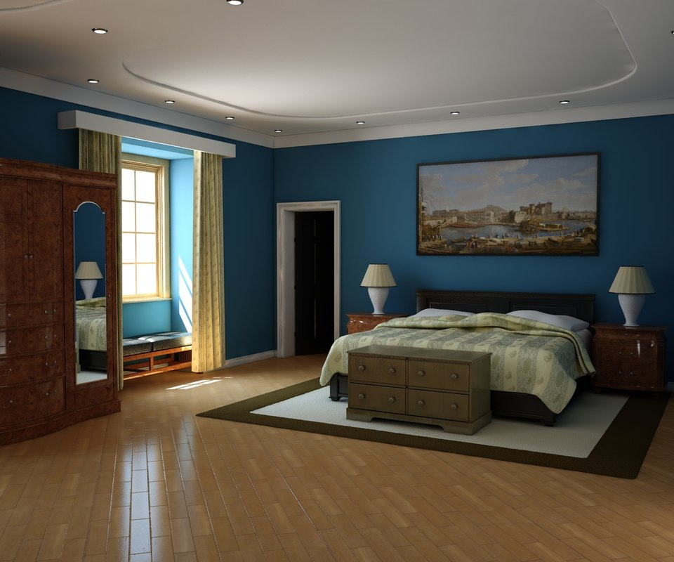 3d model bedroom interior