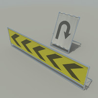 3d sign board set model
