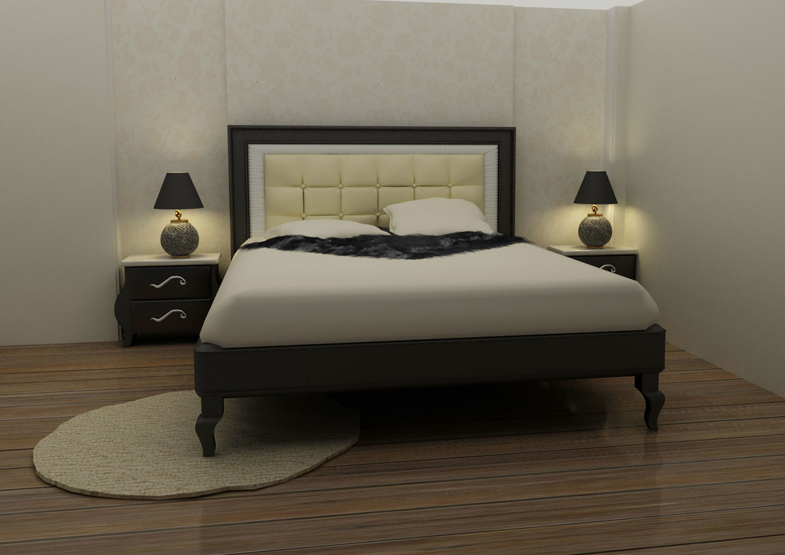 modern bed room max