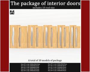 package interior doors 3d model