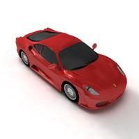 3d ferrari f430 convertible sports car
