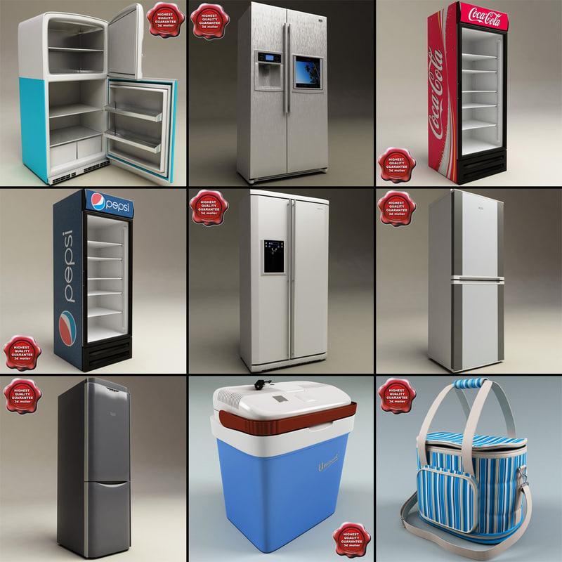 refrigerators v4 3d max
