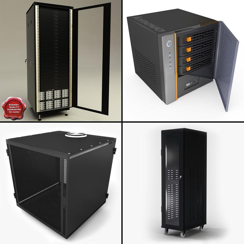 servers set rack 3ds