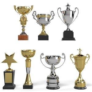 3d winner cup model