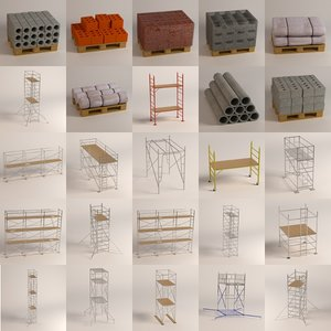 maya construction materials scaffoldings