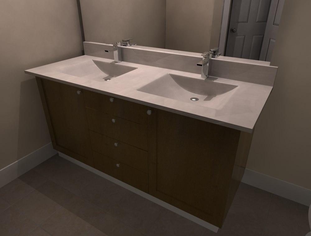 3d vanity sink bathroom