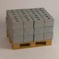 3dsmax concrete bricks