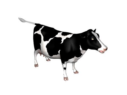 3d max cow