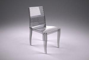 3d model acrylic chair