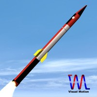 israeli jericho missile 3d model