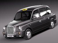 3d london taxi sedan cab model