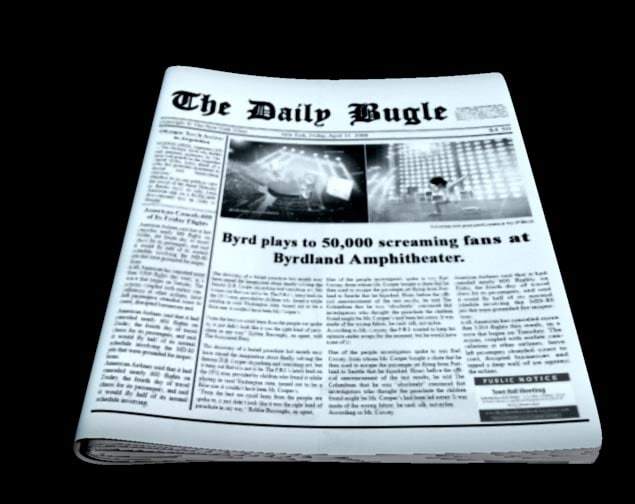 3ds max news newspaper paper