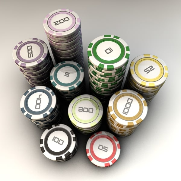 poker chips 3d 3ds