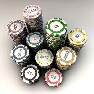 poker chips 3d 3ds