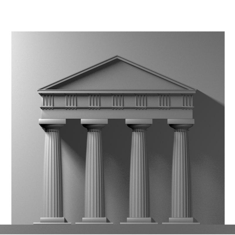 doric order portal 3d model