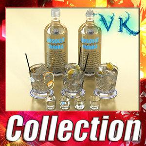 absolut vodka 3d max