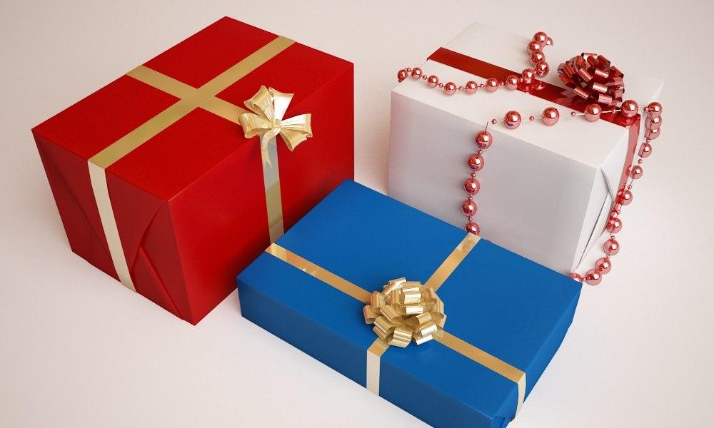 christmas presents 3d max