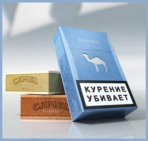 3d camel cigarettes packs