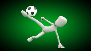 3ds max player kicker ball