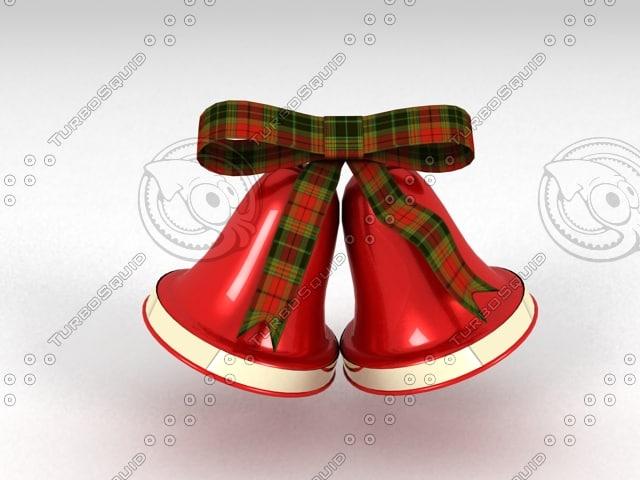 3d model of christmas bells