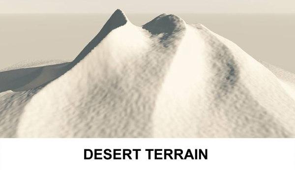 desert terrain 3d 3ds
