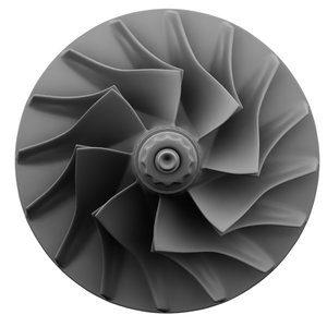 compressor turbine turbocharger 3d model