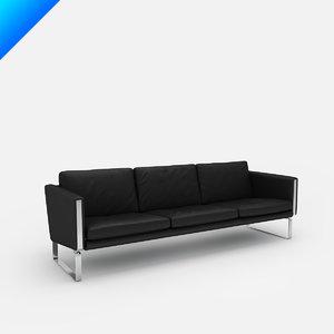 3d ch103 sofa design hans wegner