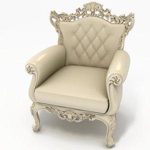 3d royal armchair ro