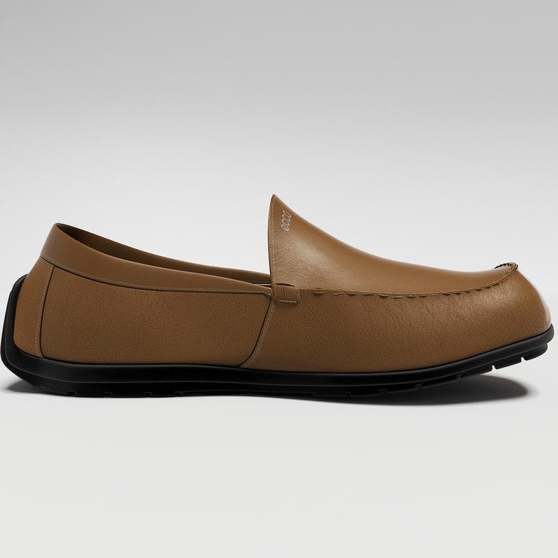 3d model ecco shoes