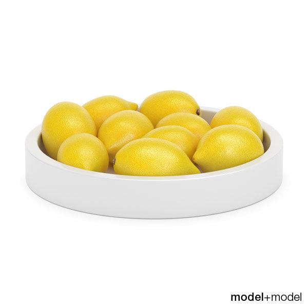 lemons ceramic bowl max