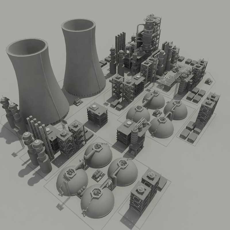 3ds max nuclear power plant