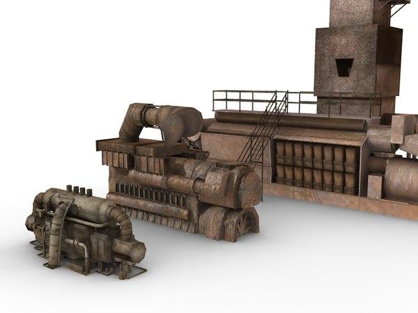 industrial units 3d model