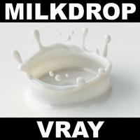 3d max milk drop