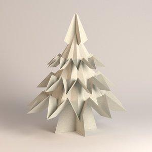 3d model of paper tree