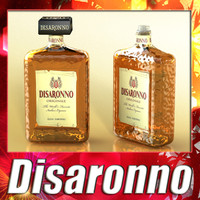 obj liquor bottle disaronno