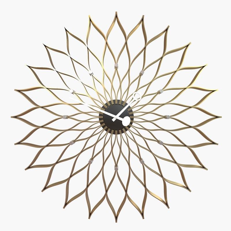max sunflower clock vitra - ds max sunflower clock vitra