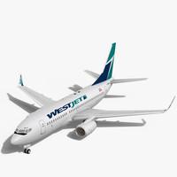 WestJet Boeing 737-700w