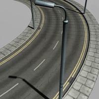 urban street crossroads 3d model