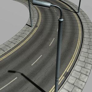 urban street crossroads 3d model
