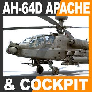 3d model boeing ah-64d apache longbow