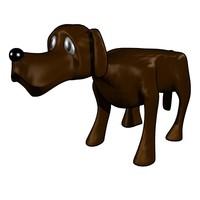 free dog cartoon 3d model
