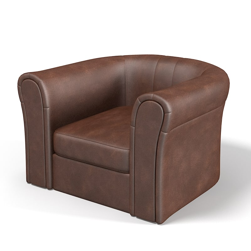 3d club leather comfortable model
