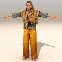 3d model arab afghani casual 09