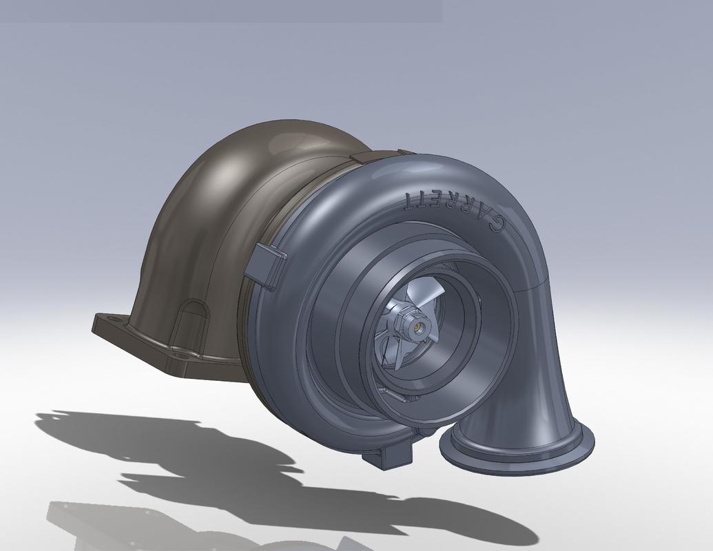 garrett turbocharger 3d model