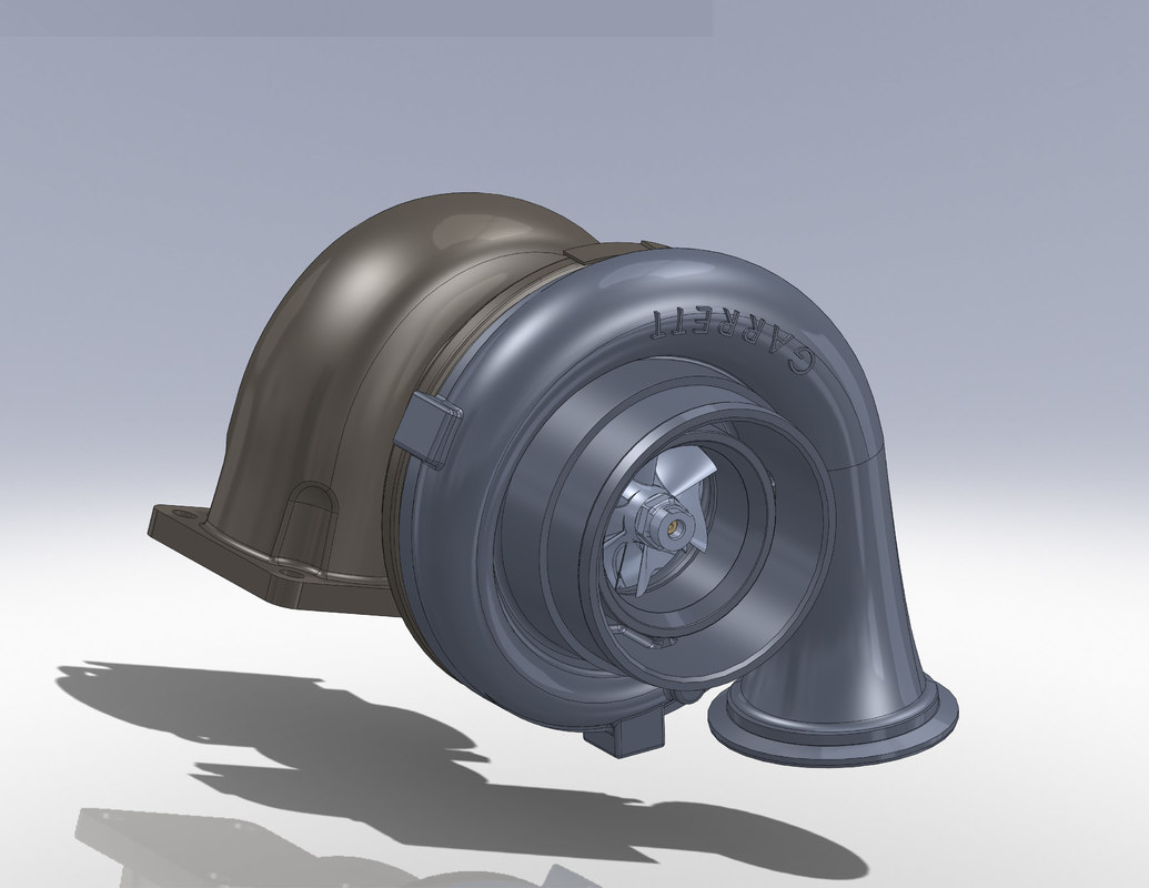 garrett turbocharger 3d model