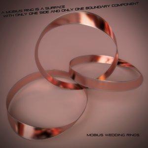 3d 3ds mobius wedding rings