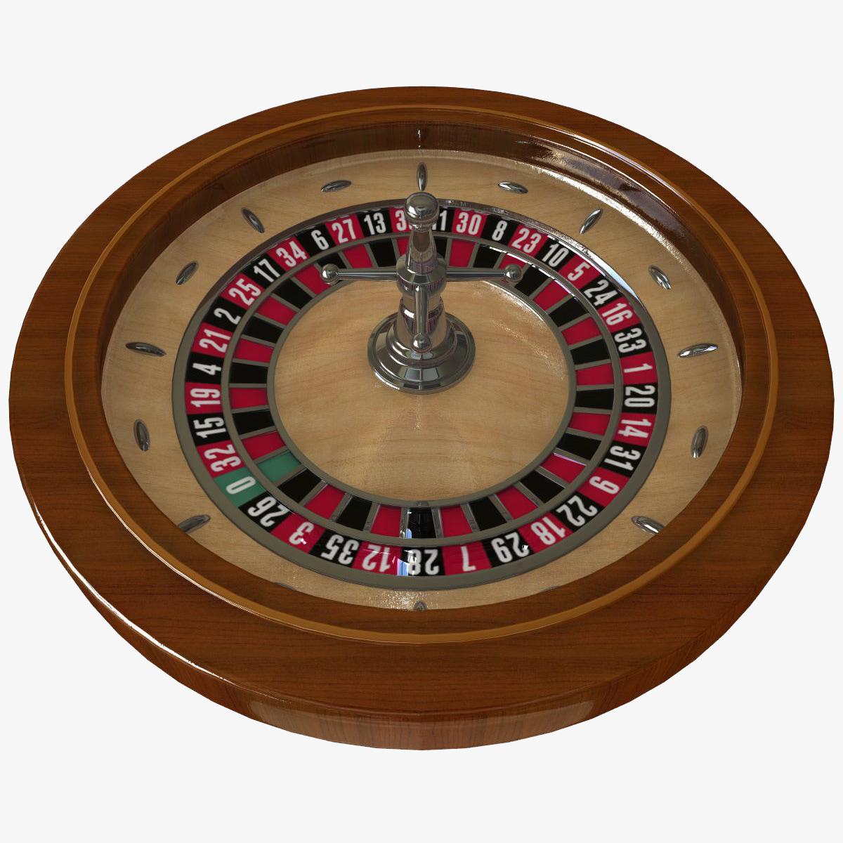 3d roulette modelled model