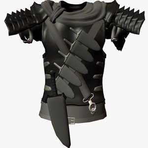 armor chestplate berserk 3d model